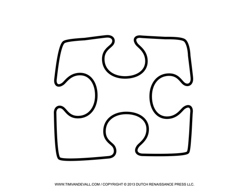 Free Puzzle Piece Template, Download Free Clip Art, Free