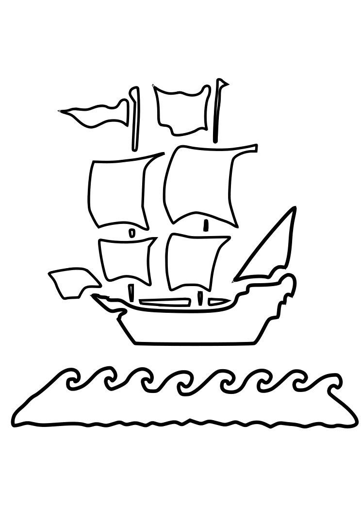Free Pirate Ship Stencil, Download Free Clip Art, Free