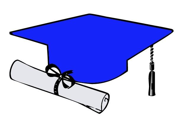 free graduation cap blue