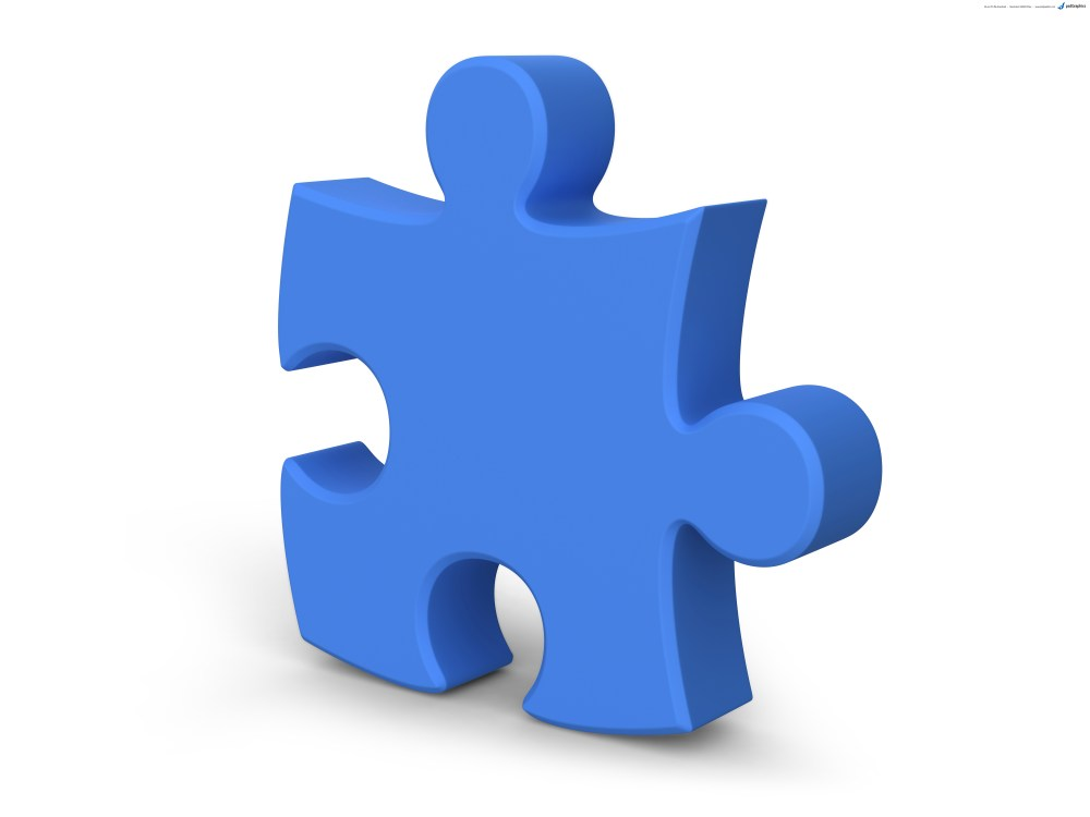 medium resolution of single jigsaw puzzle piece 3d symbol psdgraphics