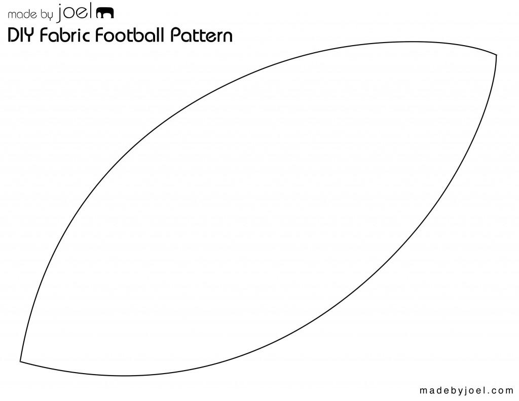 Made By Joel Diy Fabric Football