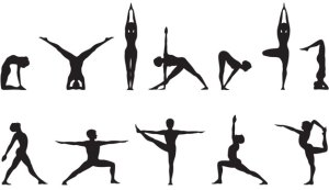 yoga poses clipart clip drawing simple library magic