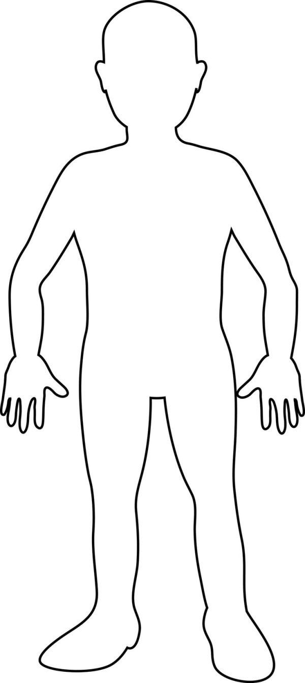 free human body outline printable