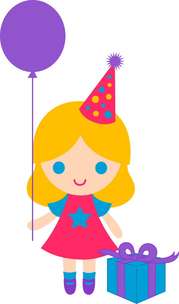 Little Birthday Girl Clip Art Free Themins