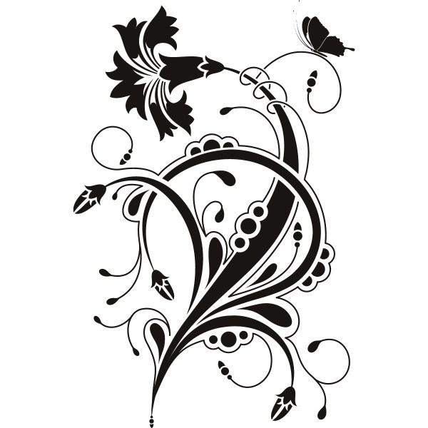 free floral clip