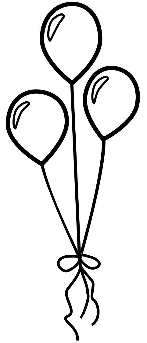 Free Balloon Outline, Download Free Clip Art, Free Clip