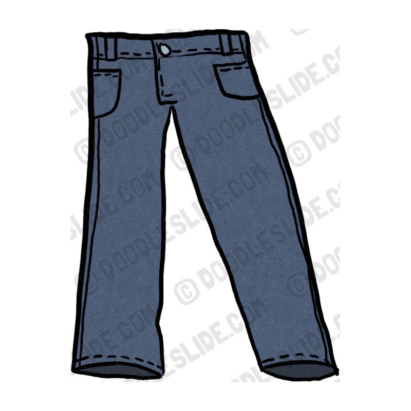 free blue jeans clipart