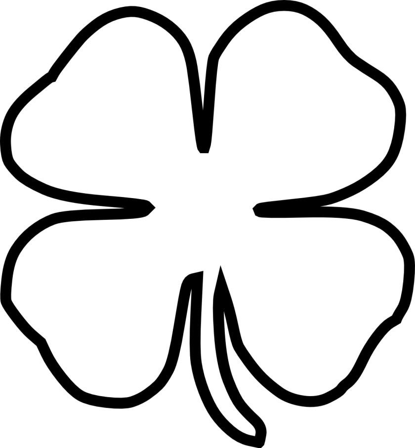 free four leaf clover outline download free clip art
