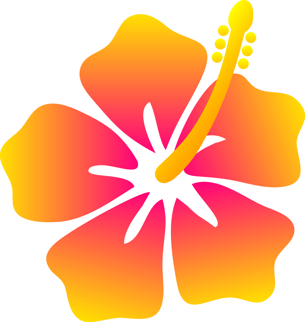 medium resolution of pink and yellow hibiscus flower free clip art