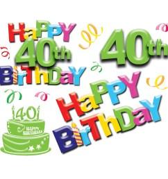 40th birthday pictures clip art pubzday [ 1600 x 1600 Pixel ]