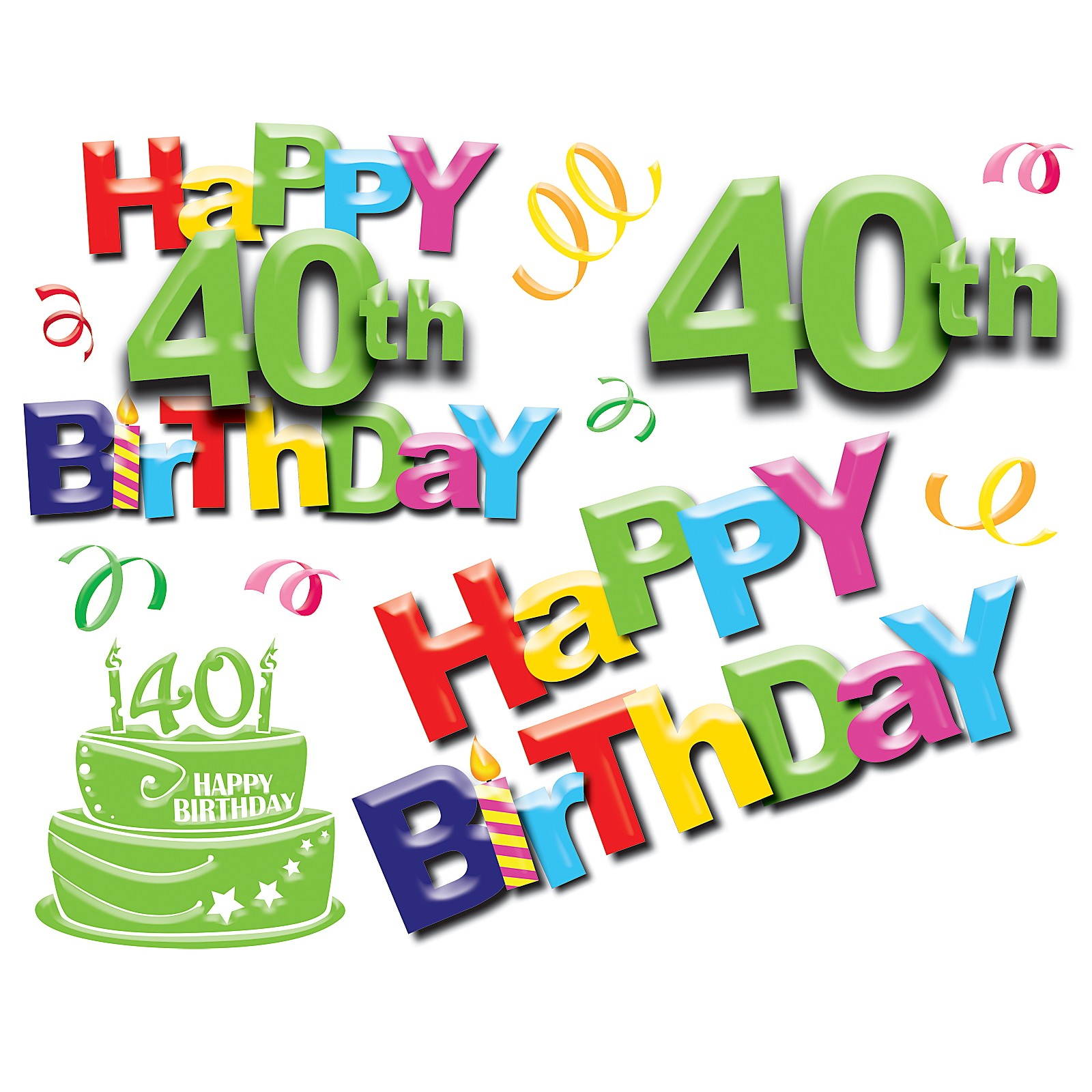 hight resolution of 40th birthday pictures clip art pubzday