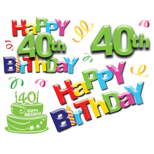 small resolution of 40th birthday pictures clip art pubzday