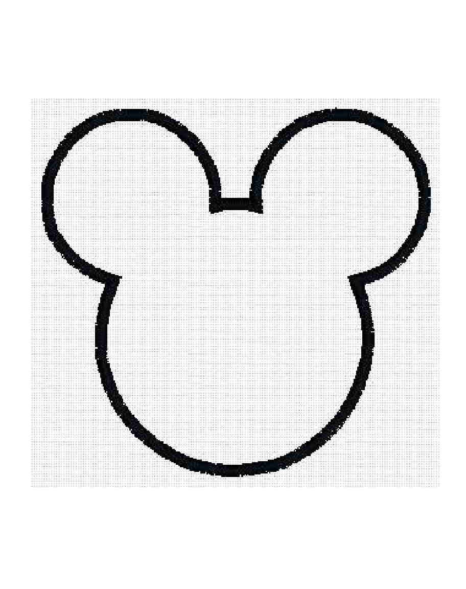 Free Mickey Mouse Ears Outline, Download Free Clip Art