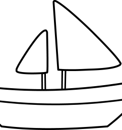 simple sailboat coloring page free clip art [ 4757 x 3504 Pixel ]