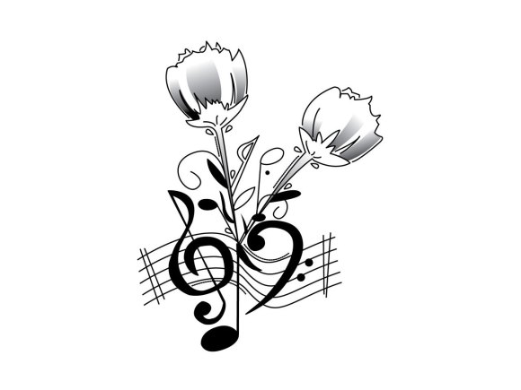 Free Cool Music Tattoo Designs To Draw, Download Free Clip ...