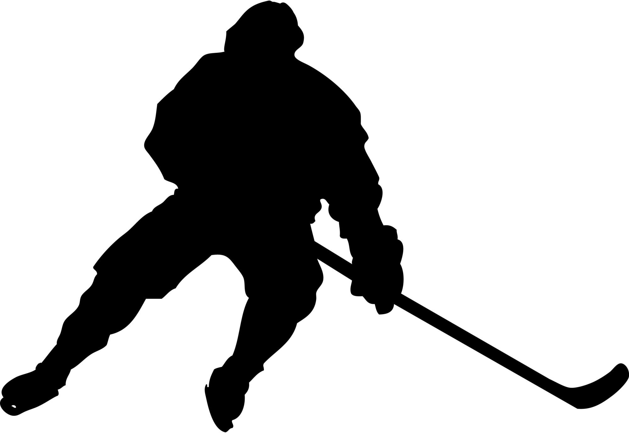 hight resolution of hockey player silhouette