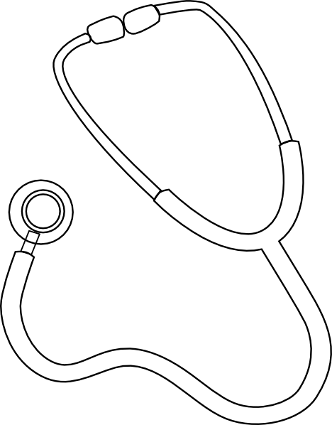 Stethoscope Drawing Easy : stethoscope, drawing, Stethoscope, Drawing,, Download, Clipart, Library