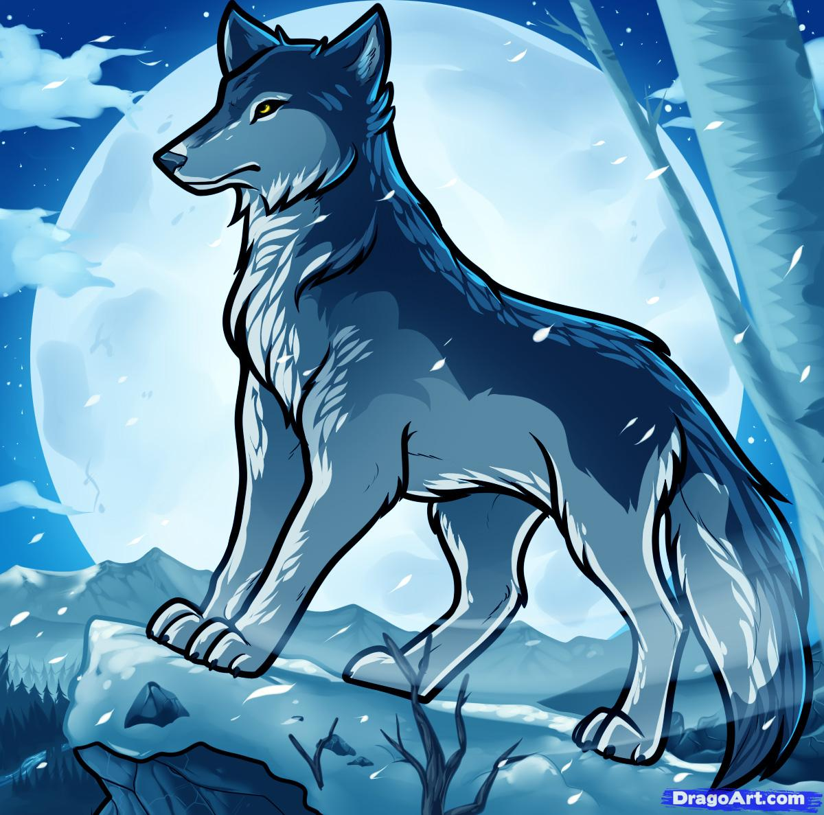 Draw A Wolf Anime Clip Art Library