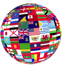 flags of the world globe icon free icons [ 1000 x 1000 Pixel ]