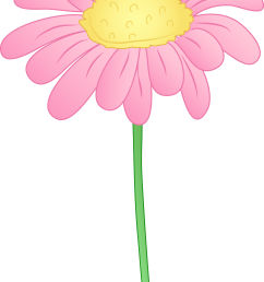 pink daisy flower clipart clipart library free clipart images [ 4682 x 6755 Pixel ]