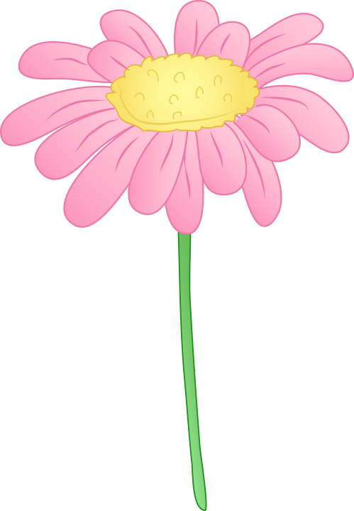 small resolution of pink daisy flower clipart clipart library free clipart images