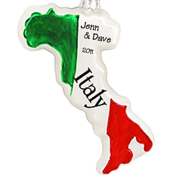 Christmas Personalized Ornament Italy