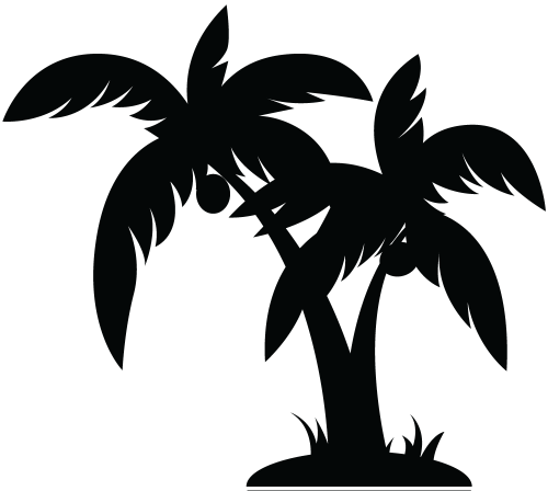 small resolution of family palm tree clip art pictures palm tree black image vector