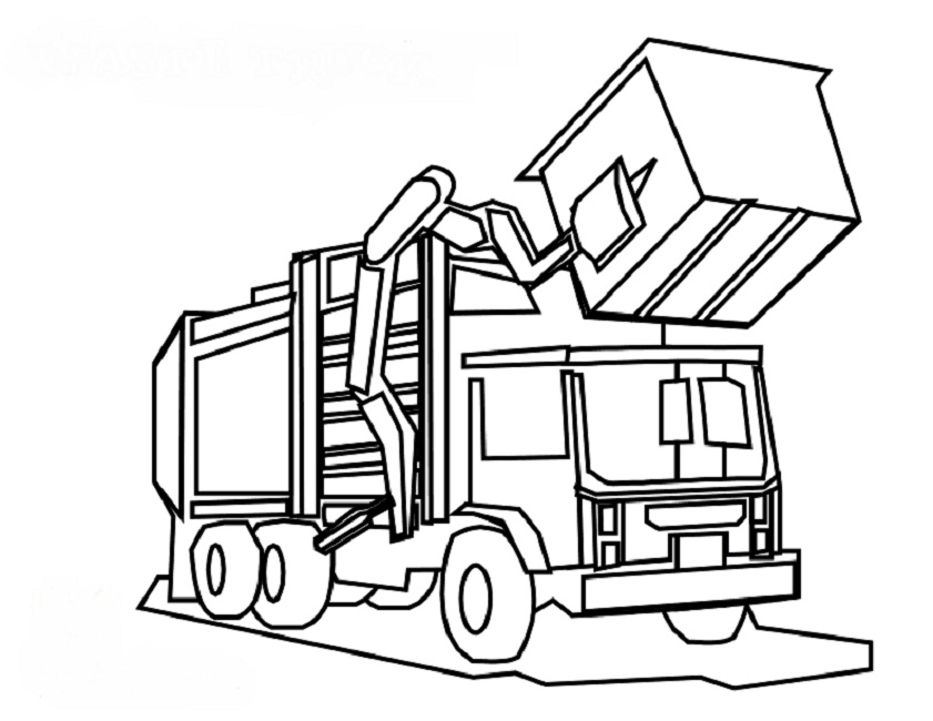Free How To Draw A Garbage Truck, Download Free Clip Art