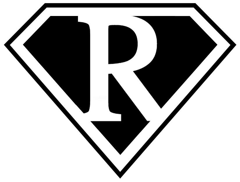 free blank superman logo