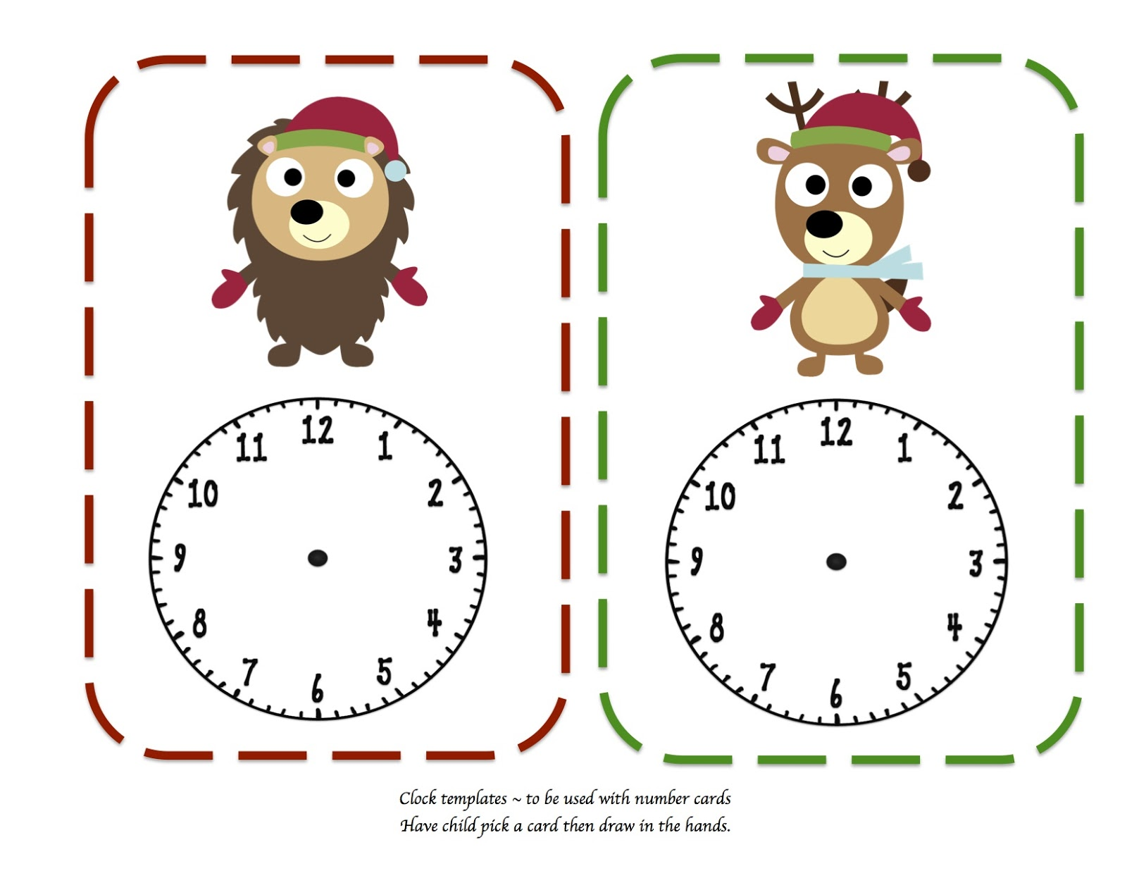 Free Free Clock Bud S Template Printable Download Free