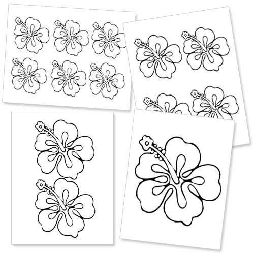 Free Hibiscus Flower Template, Download Free Clip Art