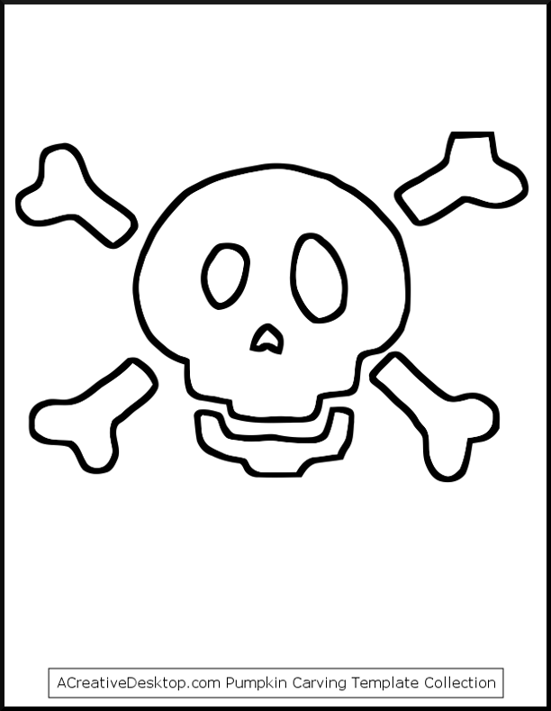 Free Skull And Crossbones Stencil, Download Free Clip Art