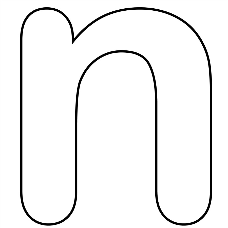 hight resolution of lower case alphabet letter n template and n song