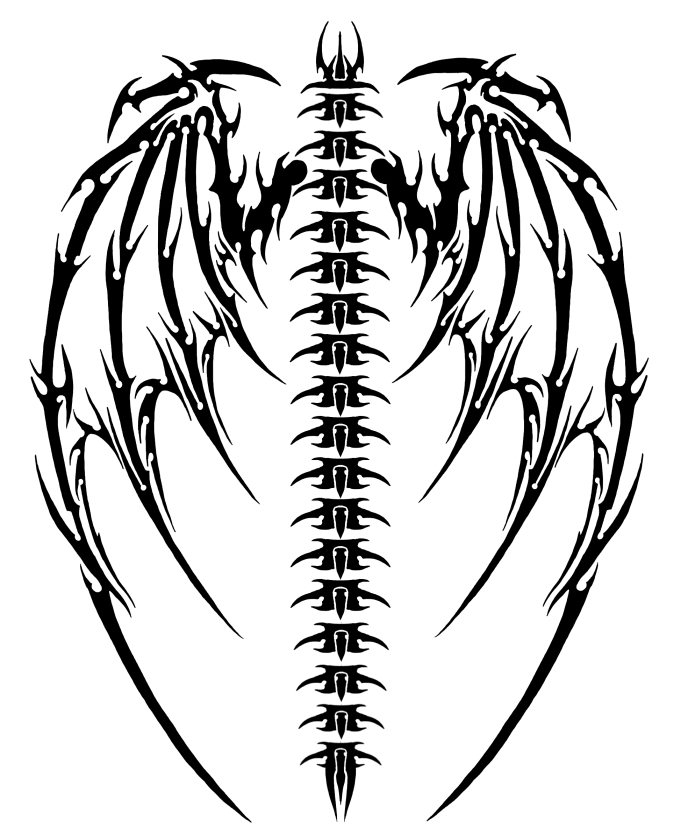 Demonic Wings Tattoo : demonic, wings, tattoo, Tribal, Demon, Tattoo, Library