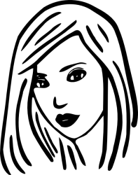 face woman girl clipart black and white Clip Art Library