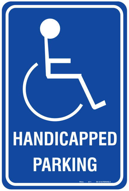 Printable Handicap Sign : printable, handicap, Printable, Handicap, Parking, Signs,, Download, Clipart, Library