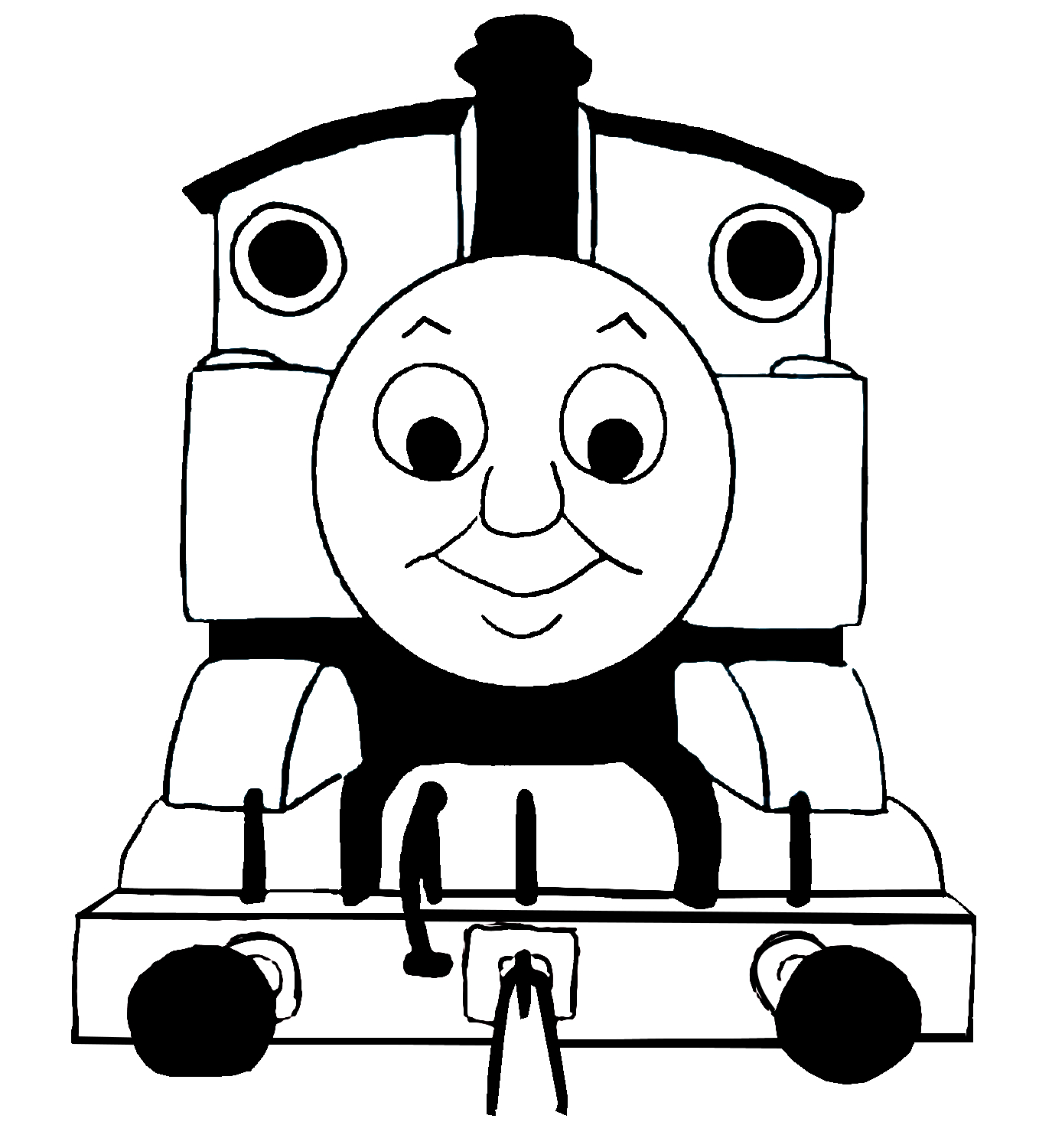 Images For Thomas Train Clip Art Black And White