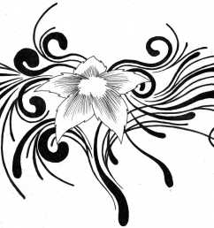 tribal flower tattoo designs clipart library [ 3047 x 1991 Pixel ]