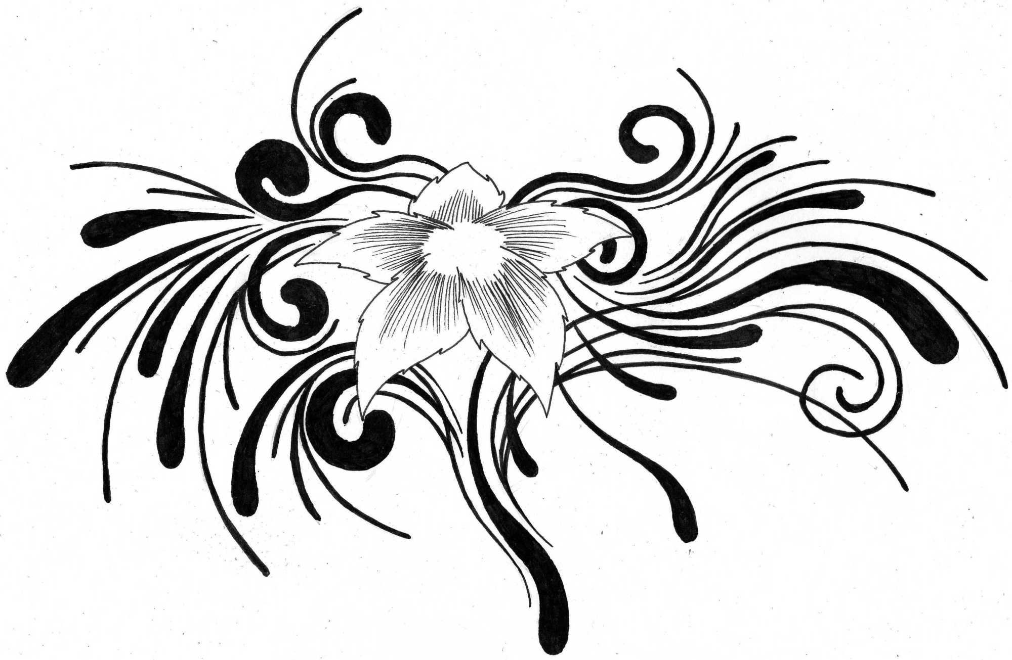 hight resolution of tribal flower tattoo designs clipart library
