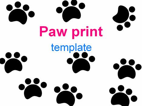 Free Dog Paw Print Template, Download Free Clip Art, Free