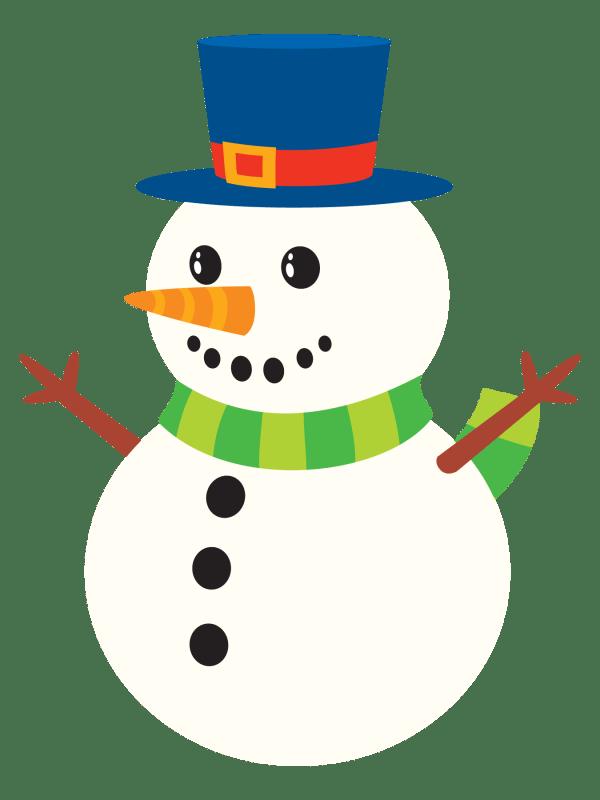 free public domain snowman