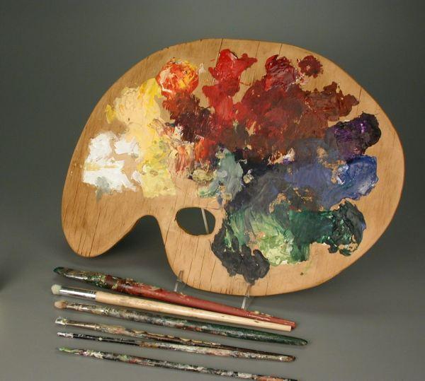 107.338 Artist' Palette And Brushes Brush
