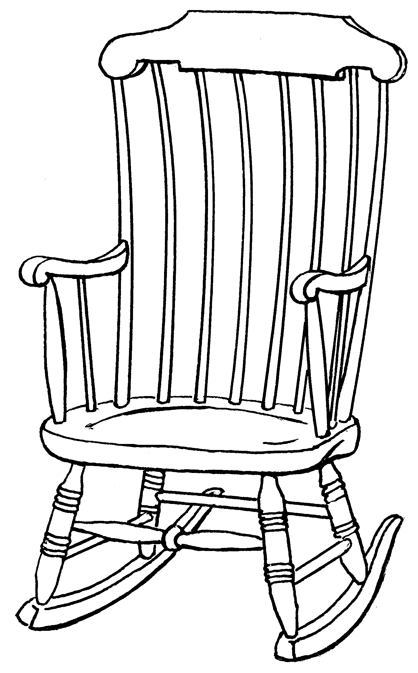 Outline Drawings On Chair