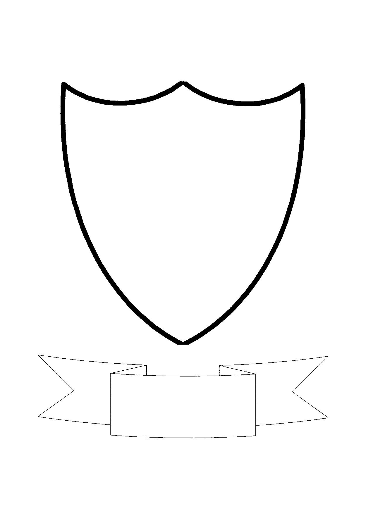 free shield template download