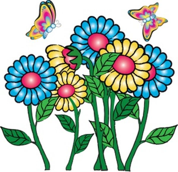 free flowers and butterflies clipart