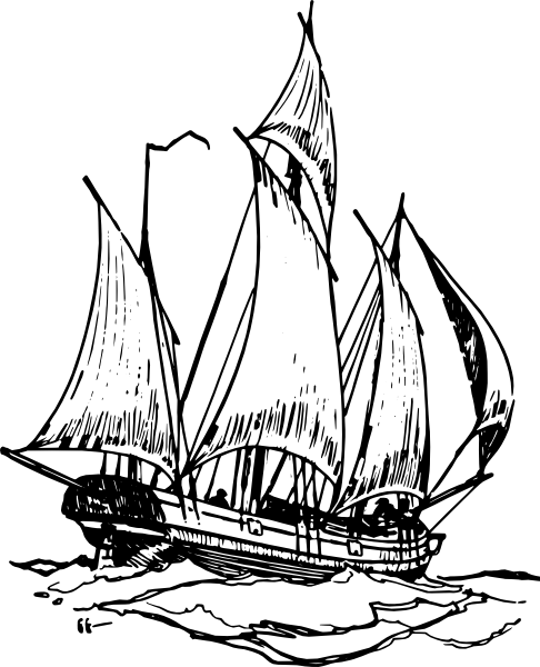 Free Pirate Ship Outline, Download Free Clip Art, Free