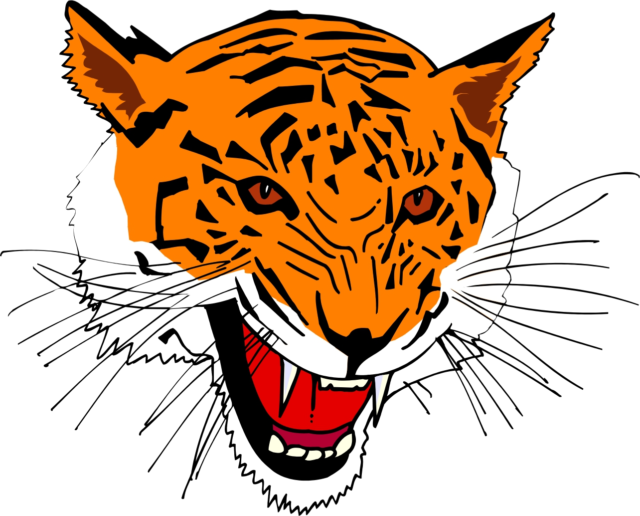 hight resolution of cartoon tiger clipart library