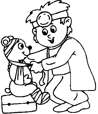 doctor coloring page # 11