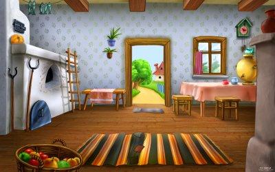 Cartoon Animated House Inside