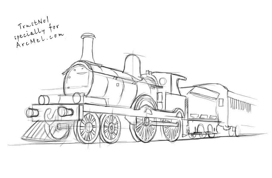 Free Train Drawing, Download Free Clip Art, Free Clip Art
